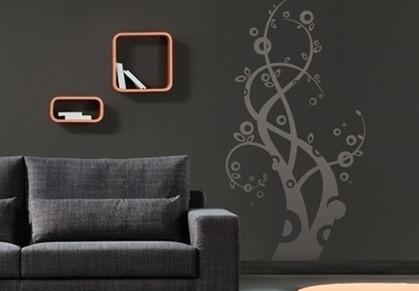 blanc : [벽장식인테리어] 예쁜 스티커로 허전한 벽을 장식~! 벽 ...