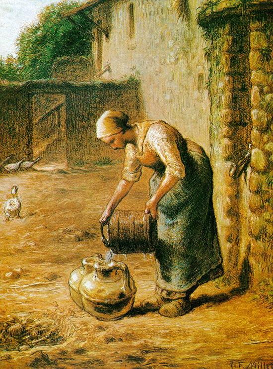 밀레/물통의 물을 옮기는 여인