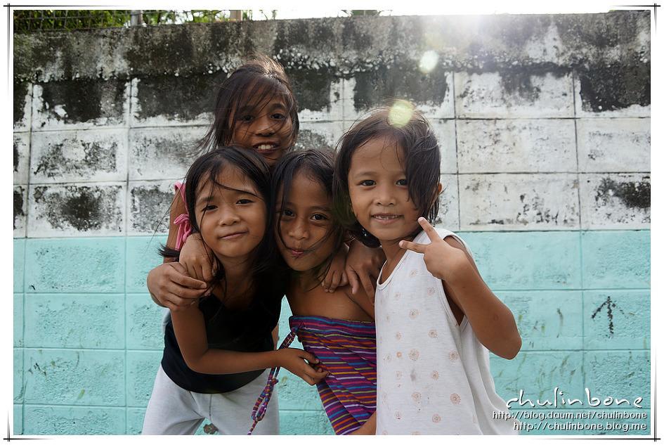 아이들 미소속의 행복