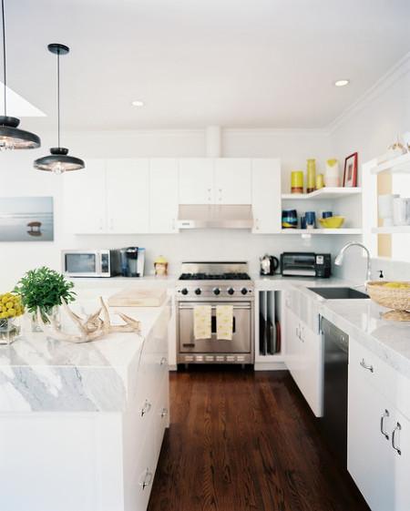 Orange And White Kitchen Cabinet Modern Kitchen Cabinets: [주방인테리어] 모던한 느낌의 주방 인테리어 :