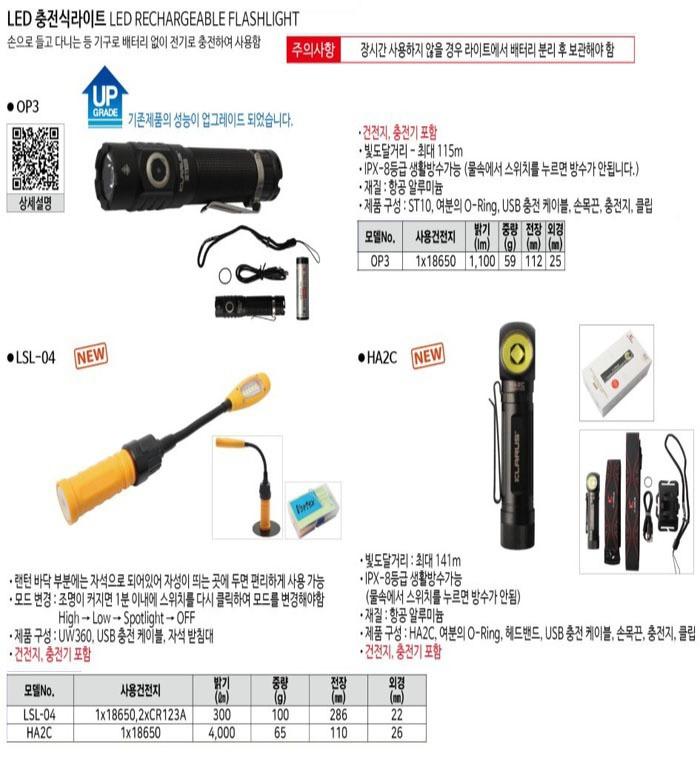 충전식라이트 LSL-04(건전지,충전기有) 보텍스 제조업체의 전기전설/라이트 가격비교 및 판매정보 소개