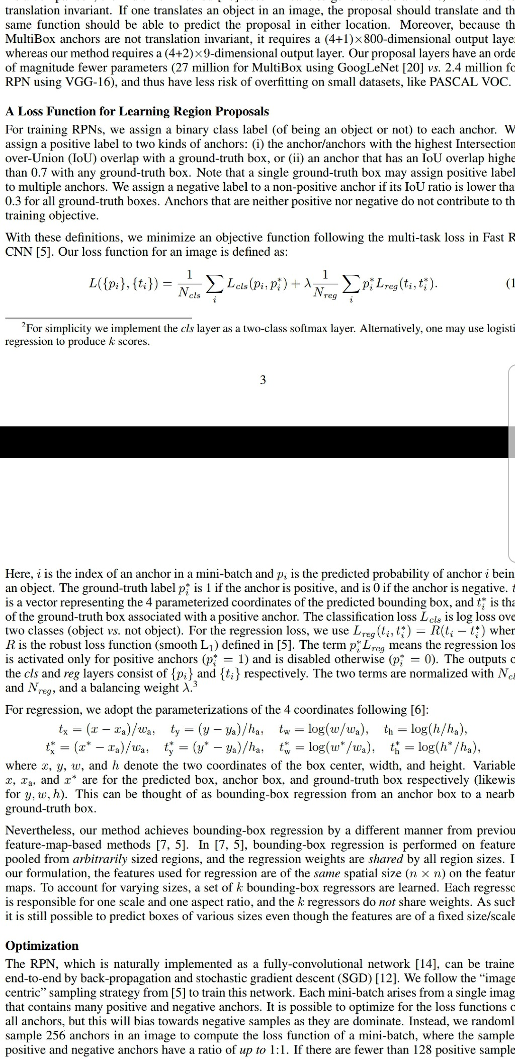 Loss function for faster rcnn, ssd , yolo